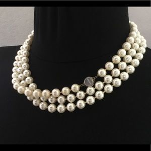 Jewelry - Layered pearl necklace Monet 60 inches